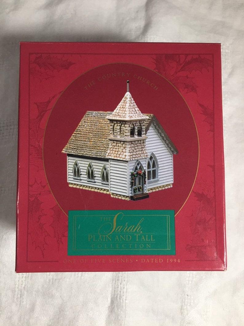 Vintage Hallmark Community Ornament 1994 Sarah Plain and Tall Country Church Hallmark