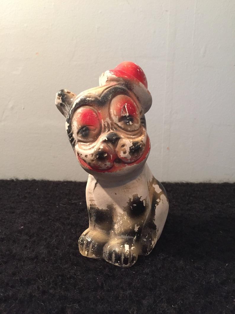 Vintage BONZO Carnival Chalkware - Bonzo Dog - Carnival Gifts - Depression  Era Carnival Chalkware