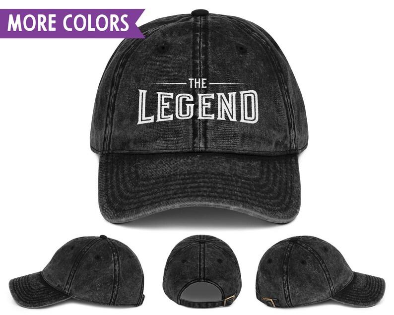 6d395d292ab083 The Legend Vintage Dad Hat Legend Legacy Set Adjustable | Etsy