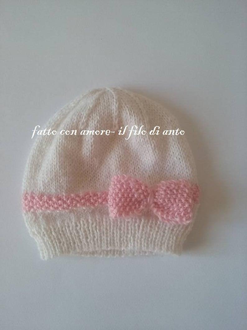 Cappello con fiocco in lana alpaca 100%  611c841eb946