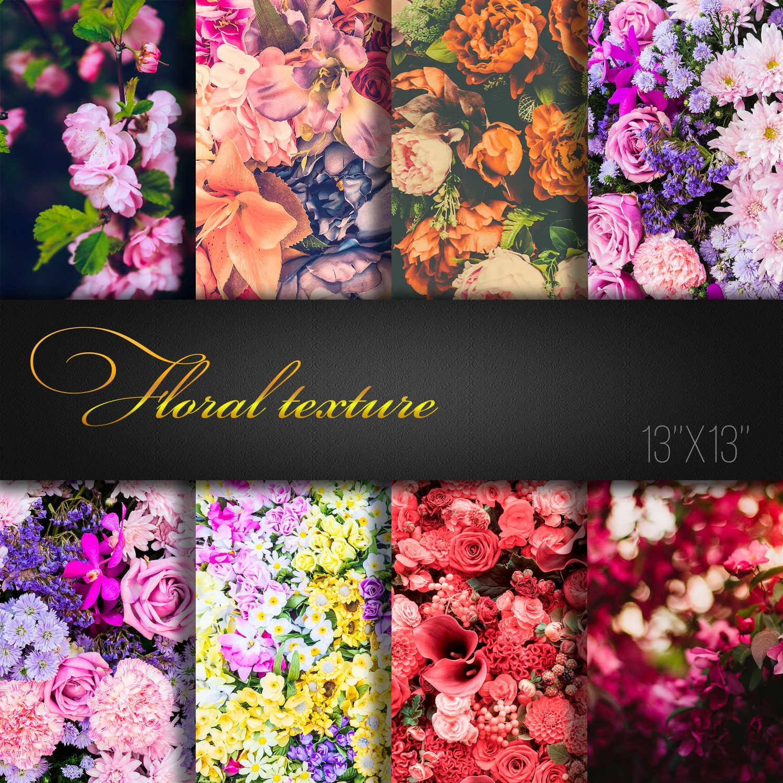 Floral Textures Floral Digital Paper Flowers Scrapbooking Etsy