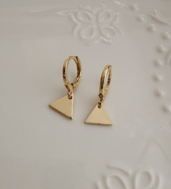 silver cross hoop earring endless hoops huggies dangle earring simple earrings everydaygift for her