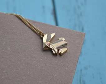 rabbit necklace gold necklace everyday necklace bridesmaid necklace