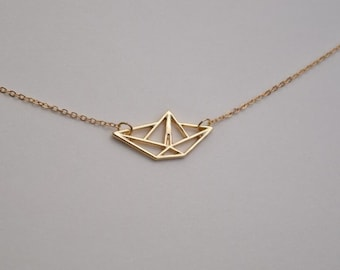 boat necklace gold necklace everyday necklace bridesmaid necklace