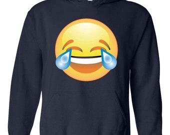 Moms Favorite Emoji Hoodie Emoji Laughing tears Cute Birthday Gift Womens Sweaters Zip Up