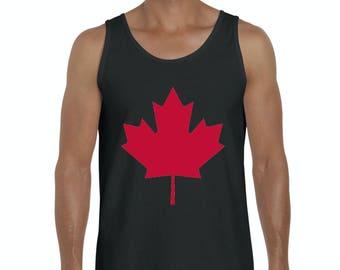 6be4f9677b3f62 Canada Maple Leaf Men s Tank Top