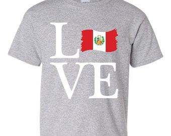 df8af933c99 Love Peru Unisex Youth Shirts T-Shirt Tee