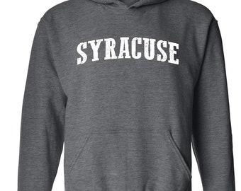 8a7333d75f4 Syracuse City New York State Flag Traveler s Gift Unisex Hoodie Hooded  Sweatshirt