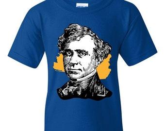ec36665d6b1ed Franklin Pierce American President Unisex Youth Shirts T-Shirt Tee