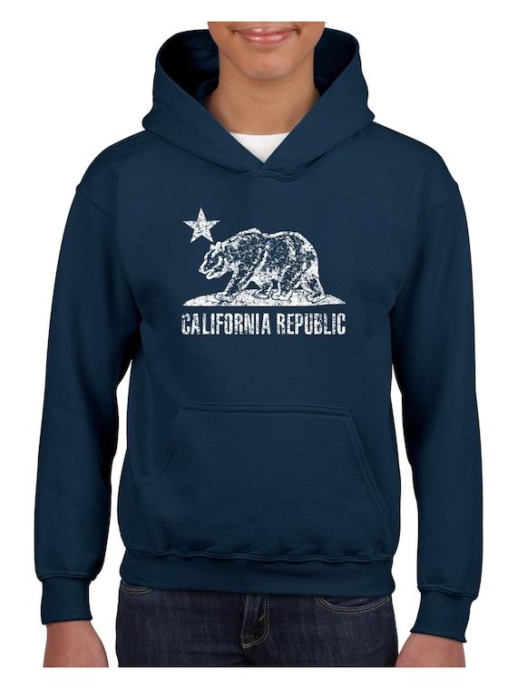 California Republic Bear Flag Crewneck Cali State Sweatshirt West Coast Sweater