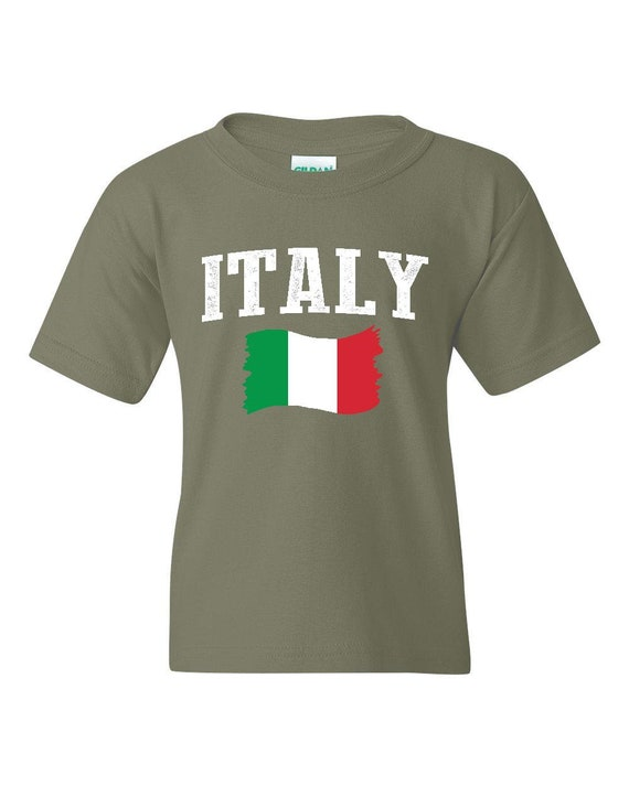 Italy  Unisex Youth Shirts T-Shirt Tee
