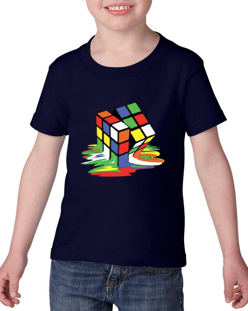 Melting Rubik/'s Cube Kid/'s T-Shirt Children Boys Girls Unisex Top
