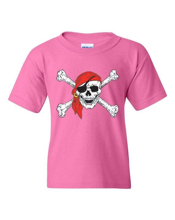 Jolly Rodger Kid/'s T-shirt Skull Crossbones Tee for Youth 1245C