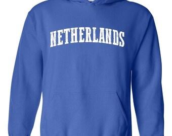 Netherlands Holland Flag Proud Home Amsterdam Traveler's Gift Unisex Hoodie Hooded Sweatshirt