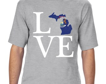 Love Michigan  Unisex Ultra Cotton T-Shirt Tall Sizes