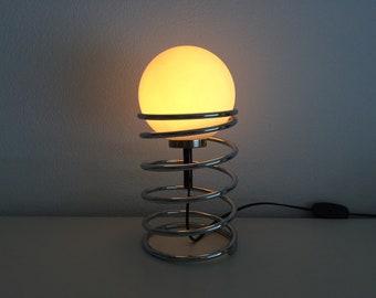 Design Tafel Lamp : Koplamp spot lamp witte vintage look design tafellamp retro etsy