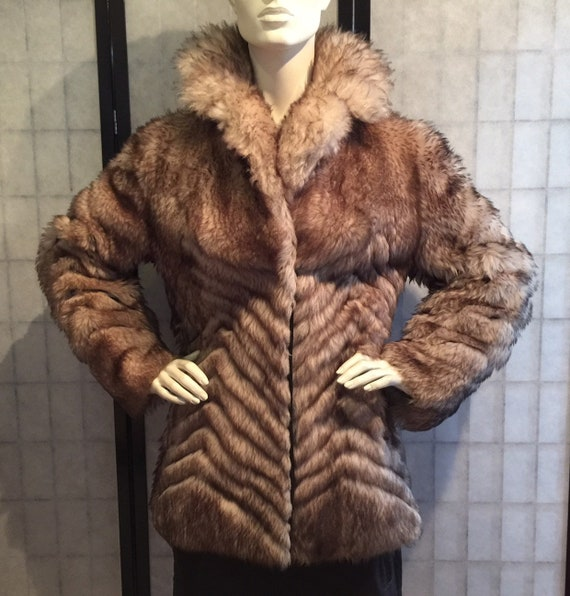 Funky vintage coat Super sixties sixties fur coat