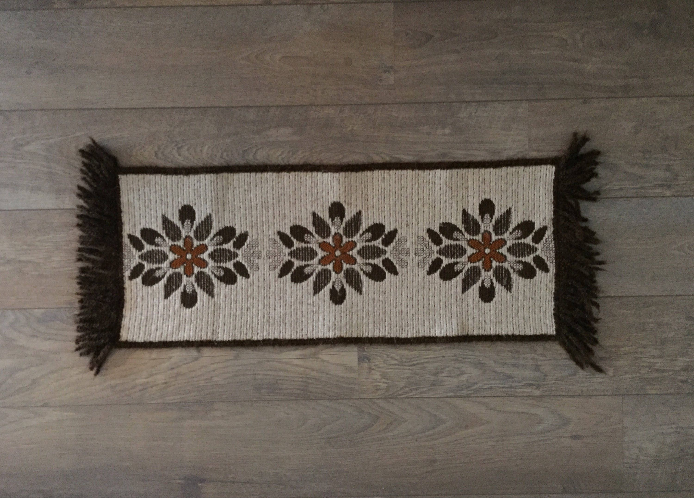 Flower Power Space Age Retro Tafel Loper Psychedelic Floral Acryl Design Vintage Table Cloth
