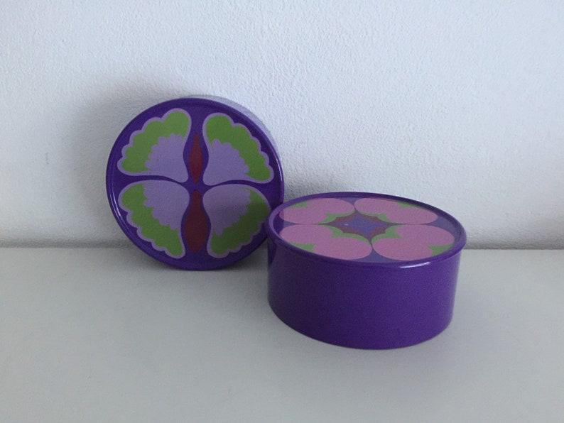 Mepal koektrommel retro paarse koekjestrommel vintage flower design cookies bin purple cookie jar