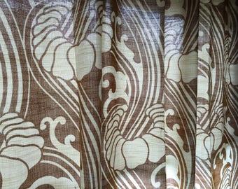 psychedelic retro gordijnen uit de seventies vintage funky curtain with space age design