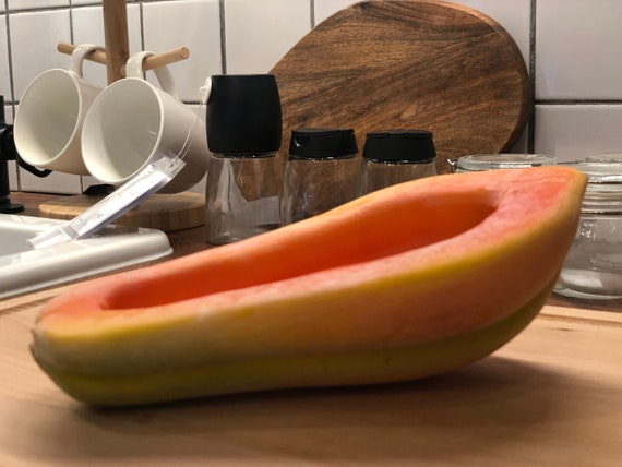 Papaya Fake foods staging foods and fruits Artificial