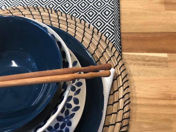 Personalized Chopsticks Wood Pairs Natural Colour Chopstick for hair Wood Kitchen Chopsticks rest #4