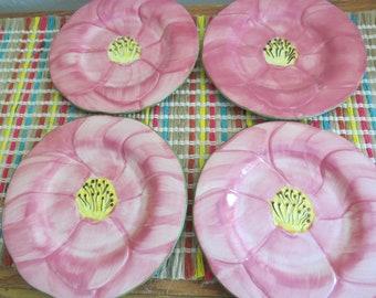 Franciscan Desert Rose Salad Dessert Plates Made in Portugal