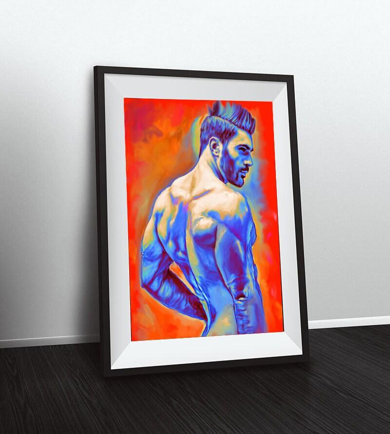 Homosexuell Kunst Homosexuell Zeichnung Weihnachtsgeschenk | Etsy