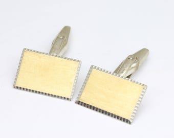 Vintage Brass Cuff links Brown Retriever Cufflinks Lambournes Vintage Oxidized jewelry