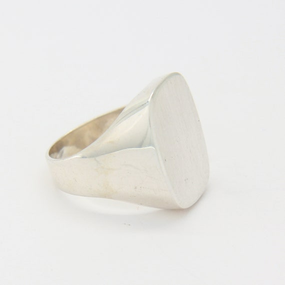 Vintage sterling silver signet ring, silver pinky