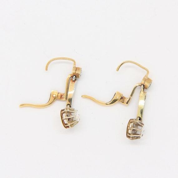Antique Victorian diamond earrings, 18k gold earr… - image 5