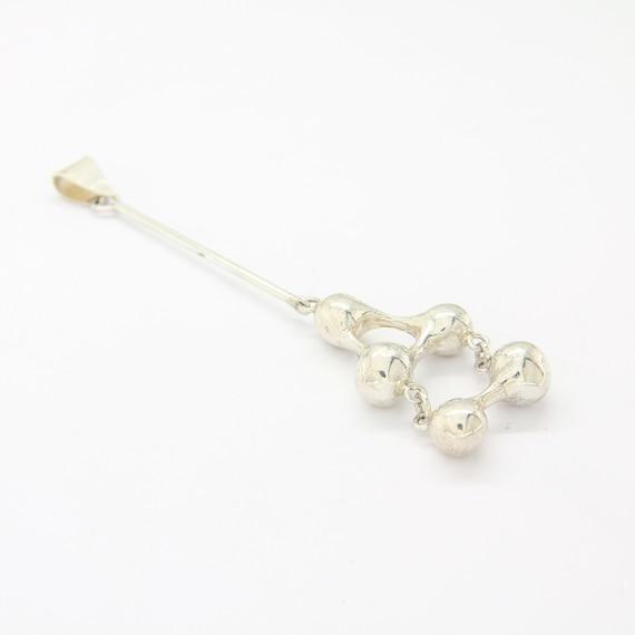 Vintage silver brutalist necklace pendant, brutali