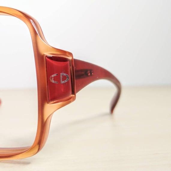 Vintage Christian Dior mod 2010 Ruby Red Eyeglass… - image 3
