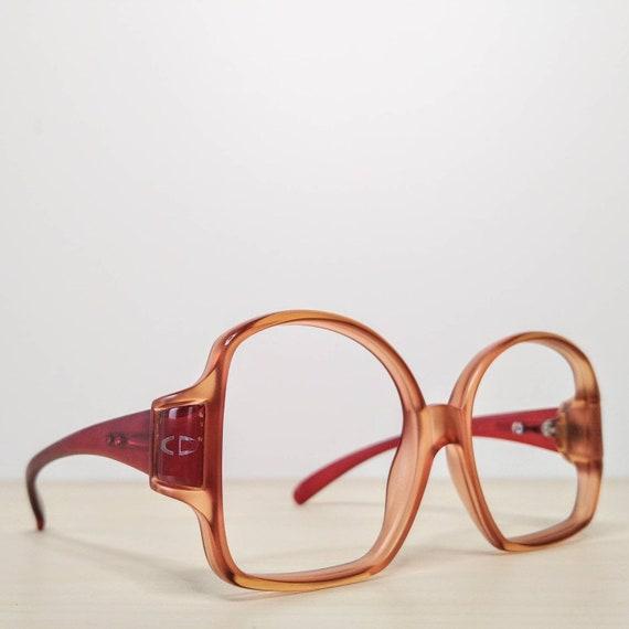 Vintage Christian Dior mod 2010 Ruby Red Eyeglass… - image 1