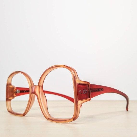 Vintage Christian Dior mod 2010 Ruby Red Eyeglass… - image 5