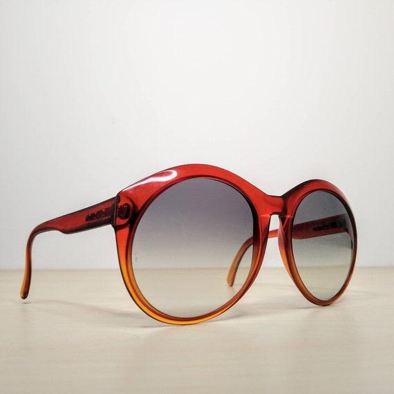 Vintage Viennaline 1128 Optyl Red Amber Oversized… - image 4