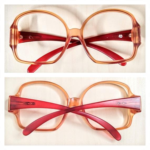 Vintage Christian Dior mod 2010 Ruby Red Eyeglass… - image 8