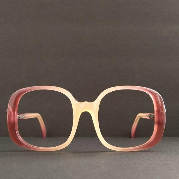 Vintage Oversized Square Gradient Eyeglasses 70s