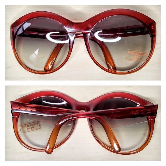 Vintage Viennaline 1128 Optyl Red Amber Oversized… - image 8