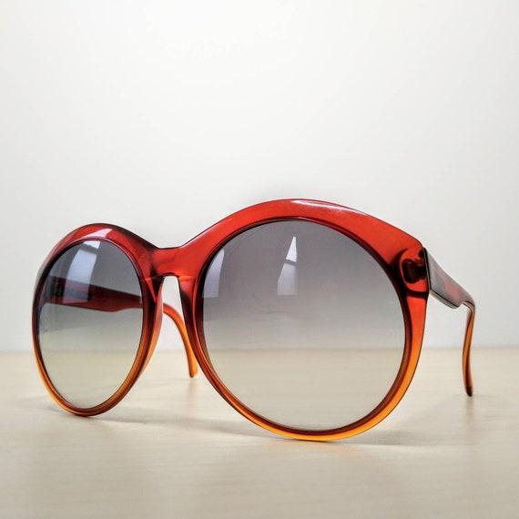 Vintage Viennaline 1128 Optyl Red Amber Oversized… - image 5