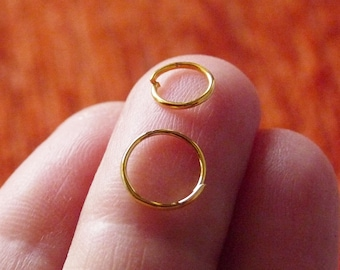 1mm Wire Jewellery Making 10x 14ct Yellow Gold Filled Jump Rings 4mm Diameter