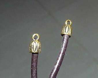 10X escargot de mer Conque Charme Pendentif Plaqué Or Perles À faire soi-même Collier//Bracelet Craft
