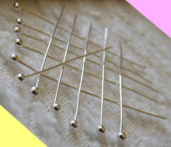 100x Gold Plated Ball Head Pins Ballpins Jewelry Beading Craft Findings 30mm