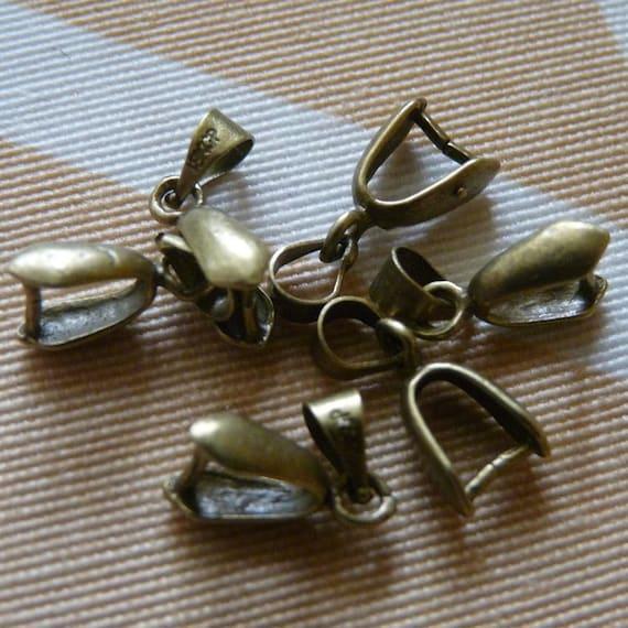 5x Silber 304 Edelstahl 12 x 13mm Collierschlaufen Y00885 Charming Beads