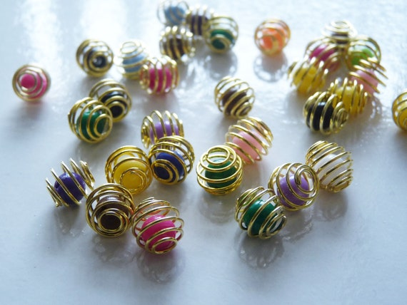 10x Pearl Rhinestone Pendant Charms for DIY Jewelry Hanging Decoration 10mm