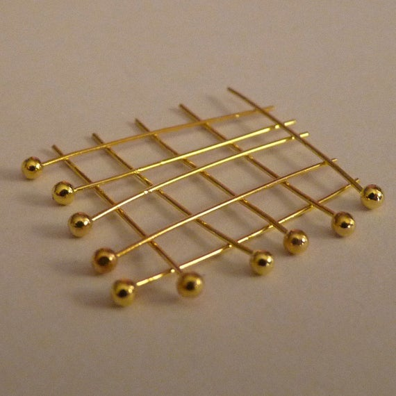 50pcs Gold Plated Metal Flat Head Pin Headpins Great DIY Craft Findings 2 inch