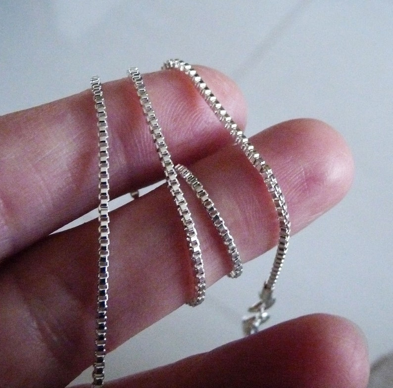 CHOOSE YOUR CLASP Sterling Silver 1.5mm Box Chain Necklace
