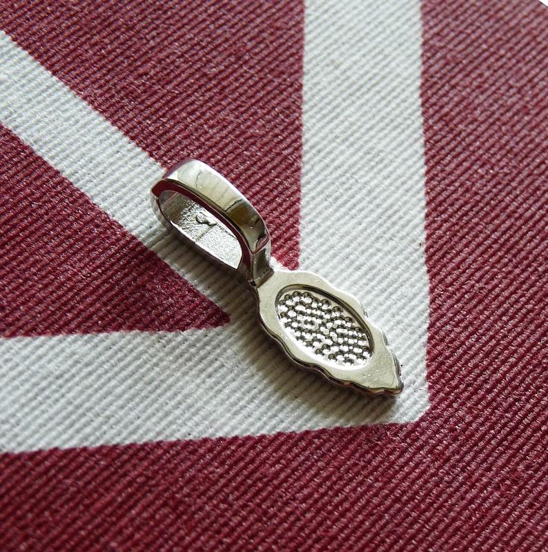 1020 Large Bails 26x8.5mm Leaf Bails Dark Silver tone Pendant Holders Large Bails for Fused Glass Pendants Leaf Necklace Connectors