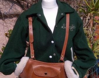 Bag leather & fur hand warmers!