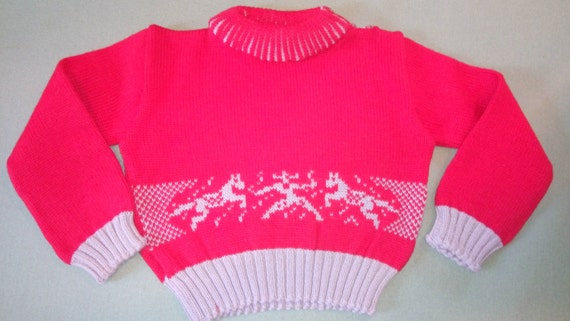 adorable dead stock 1950 s child sweater!